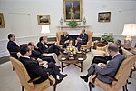 President of the USA Gerald R. Ford Meeting with President Walter Scheel of the FRG and Others in the Oval Office June 1975.jpg