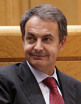 José Luis Rodríguez Zapatero - Image: Presidente de España Rodríguez Zapatero en el Senado en marzo de 2011 (cropped)