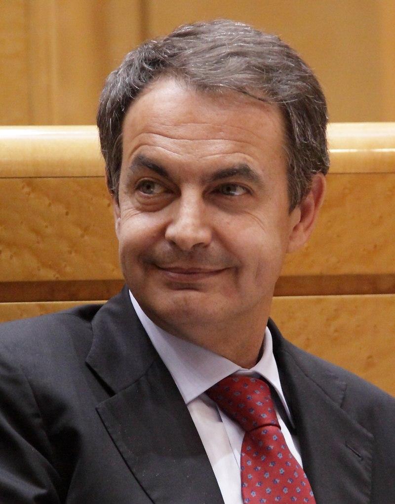 Presidente de España Rodríguez Zapatero en el Senado en marzo de 2011 (cropped)