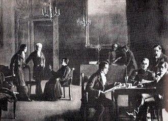 Rise of the Argentine Republic - A meeting of the Primera Junta.