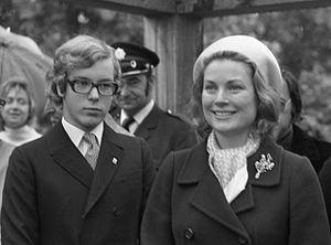 Albert II, Prince of Monaco - Prince Albert with his mother in 1972