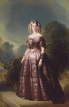 Princess Maria Carolina Augusta of the Two Sicilies (later Duchess of Aumale) from the studio of Franz Xaver Winterhalter (Versailles).jpg