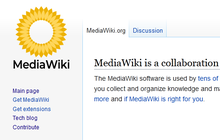 Proposed mediawiki logo (yellow solid, capitalised) legacy vector.png
