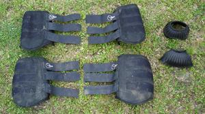 Splint boots - neoprene brushing boots, front (longer) and rear (shorter)