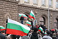 Protests in Sofia, 24-02-17, flags.JPG