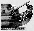 Proue du vaisseau de guerre l'Agréable en 1697.jpg