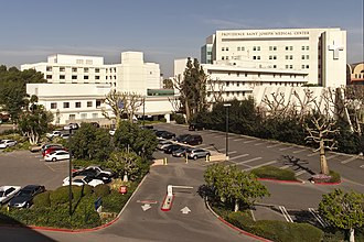 Providence Saint Joseph Medical Center - Providence Saint Joseph Medical Center viewed from the south.