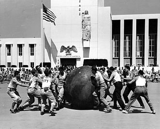 Pushball - Pushball game between New York Police and Fire Departments, 1939