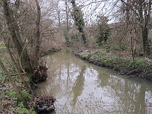 Pymmes Brook Trail - Image: Pymmes Brook in Arnos Park