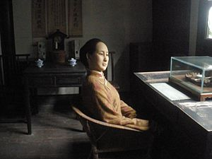 Qiu Jin - Wax figure of Qiu Jin at her desk.