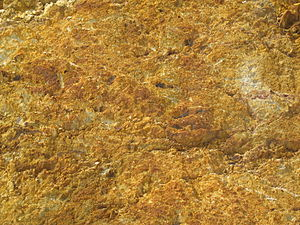 Queenstown, Tasmania - A close-up shot of rock in the mountains surrounding Queenstown