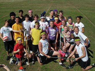 Grapevine High School - Some of the members of the GHS Qudditch Club