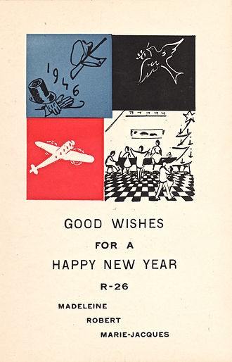 R-26 (salon) - R-26 New Year card (1946)