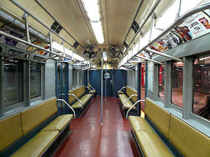 R12 (New York City Subway car) - Image: R12 irt subway car interior