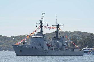 NNS Thunder (F90) - NNS Thunder in Sydney Harbour in October 2013 for the Royal Australian Navy International Fleet Review