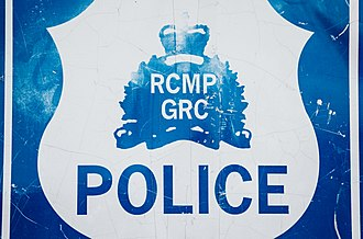 Law enforcement in Canada - RCMP - GRC Police Sign