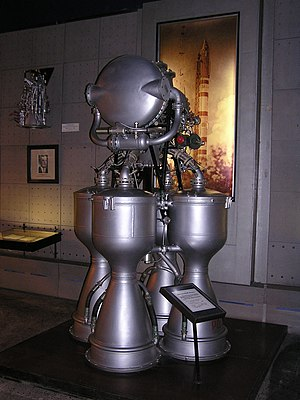RD-214 - Museum of Space and Missile Technology (Saint Petersburg). RD-214 rocket engine for Сosmos LV first stage.