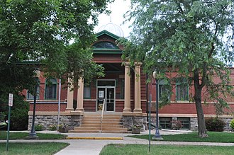 National Register of Historic Places listings in Spink County, South Dakota - Image: REDFIELD CARNEGIE LIBRARY, SPINK COUNTY, SD