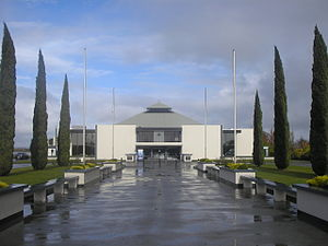 Air Force Museum of New Zealand - The Air Force Museum entrance.