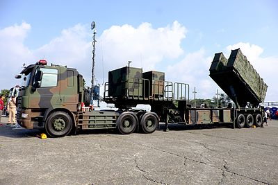ROCN Hsiung Feng II, Hsiung Feng III Anti-Ship Missile Launchers on Truck at Zuoying Naval Base