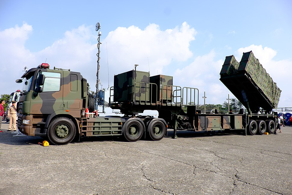 ROCN Hsiung Feng II & Hsiung Feng III Anti-Ship Missile Launchers Truck Display at Zuoying Naval Base Ground 20151024