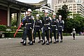 ROC Army soldiers at Sun Yat-sen Memorial Hall with flag of the Republic of China 20150902.jpg