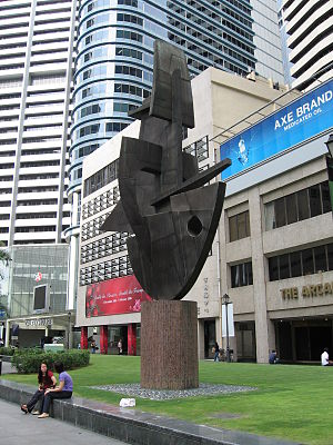 Raffles Place - Modern-day Raffles Place, the financial heart of Singapore.