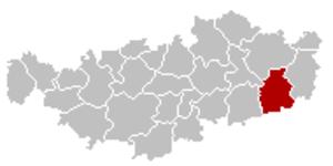 Ramillies, Belgium - Image: Ramillies Brabant Wallon Belgium Map