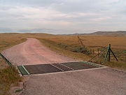 Ranch road in eastern Wyoming