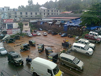 Ranni - Ranni market on a rainy evening
