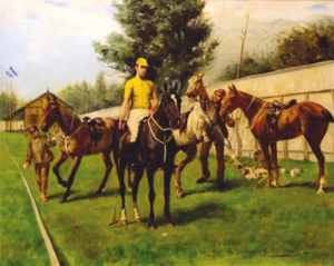 Raymond Rodgers Belmont - Raymond Rodgers Belmont on Domino circa 1880 painted by Gustav Muss-Arnolt