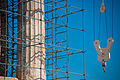 Reconstruction works over Parthenon, Athenian Acropolis. Athens cityscape. Athens, Greece.jpg