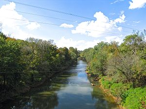 Red River (Cumberland River) - The Red River in Adams, Tennessee