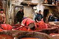 Red Dye at the Tanneries, Fes Morocco (4287745050).jpg