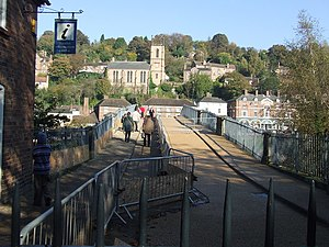 Ironbridge Gorge - Image: Redressing the bridge geograph.org.uk 599687