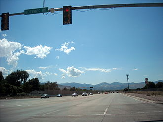 Utah State Route 154 - Bangerter Highway westbound at Redwood Road (SR-68)