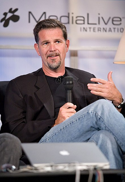 Reed Hastings, co-founder and the current chairman and CEO Reed Hastings, Web 2.0 Conference.jpg