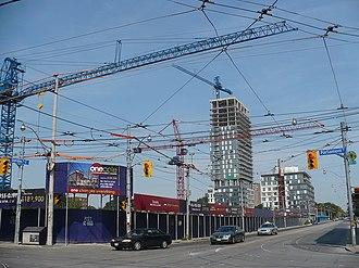 Regent Park - Progress of redevelopment in August 2008