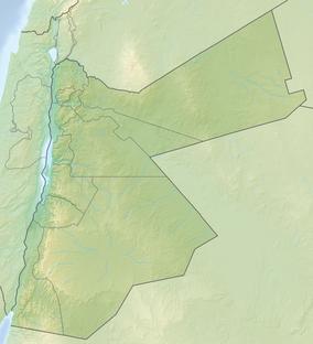 Carte montrant l'emplacement du Wadi Rum