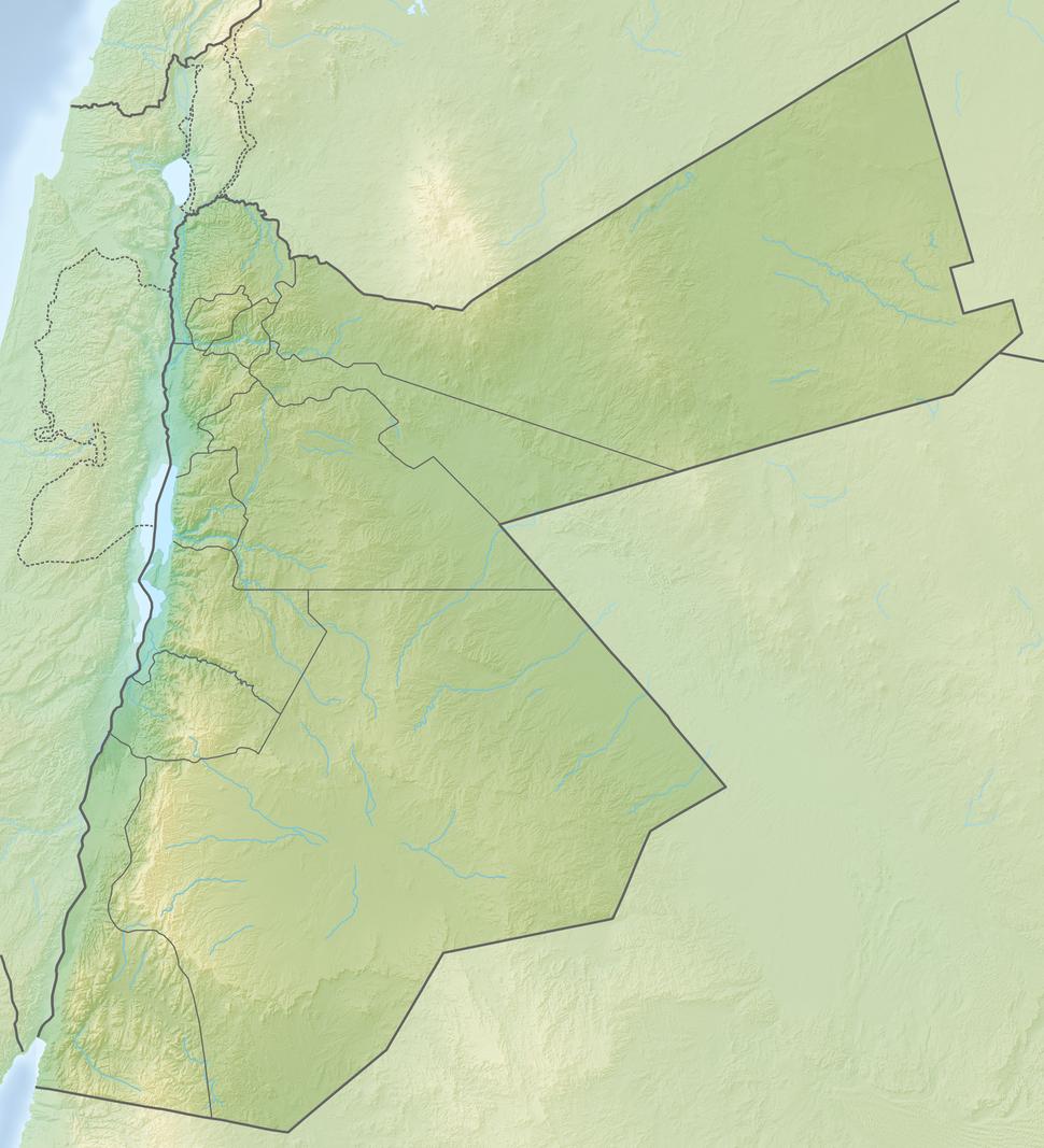 Reliefkarte Jordanien