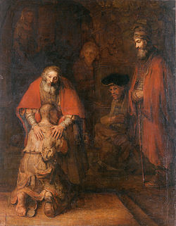 REMBRANDT Harmenszoon van Rijn The Return of the Prodigal Son c. 1669