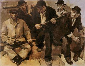 November 1918 in Alsace-Lorraine - René Beeh (1886-1922), La Révolution (1918-1919, Musée d'art moderne et contemporain de Strasbourg)