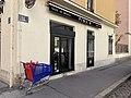 Restaurant mexicain Piquin rue des Rancy (Lyon) et caddie abandonné.jpg