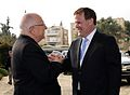 Reuven Rivlin, president of Israel and the Honourable John Baird, Canada's Minister of Foreign Affairs, 2015 - 02.jpg