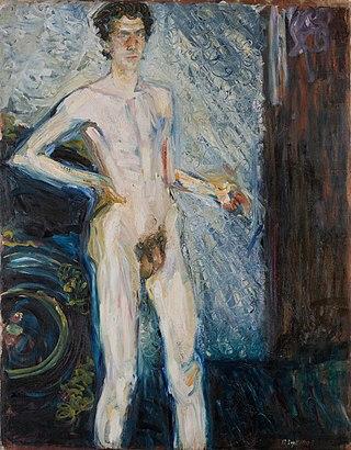 Richard Gerstl - Nude Self-Portrait with Palette
