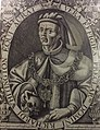 Richard Whittington with Skull, by Renold Elstracke.jpg
