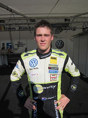 Richie Stanaway - Stanaway at the 2011 ADAC GT Masters in Hockenheim, Germany