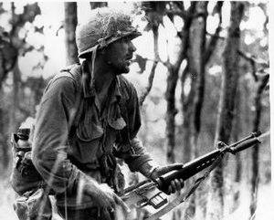 Rick Rescorla - Image: Rick Rescorla in war