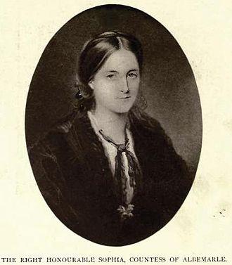William Keppel, 7th Earl of Albemarle -  The Right Honourable Sophia Countess of Albemarle