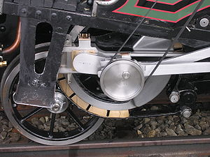 Railway brake - The braking system of the 1873 year steam locomotive